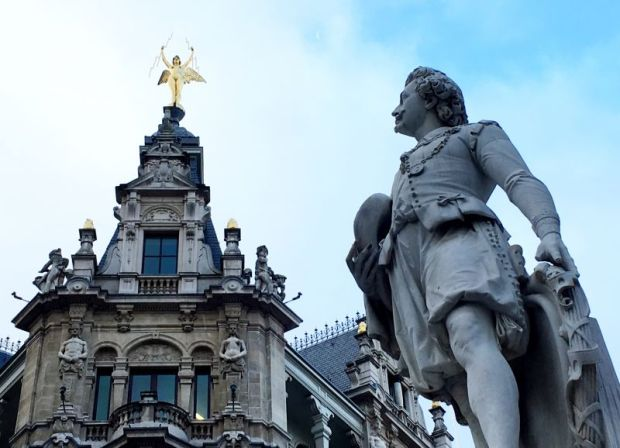 River cruising in Belgium: Antoon van Dyck statue, Antwerp
