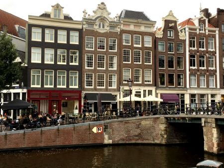 Canalside cafe, Amsterdam