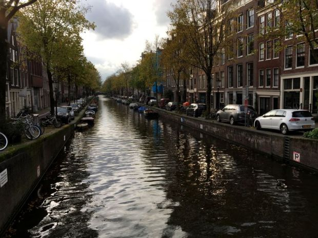 River cruising in Amsterdam