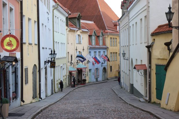 Typical medieval street in Tallinn