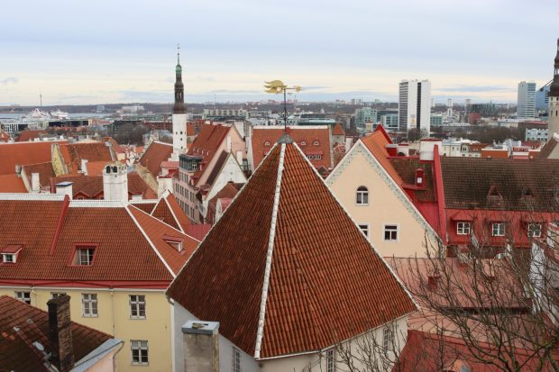Tallinn city view from Toompea