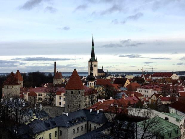 Historic Tallinn Old Town, the capital of Estonia