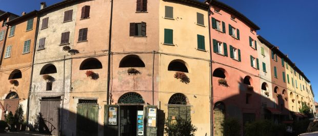 The landmark of Brisighella, Italy