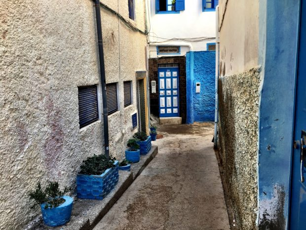 Taghazout, a blue village in Morocco