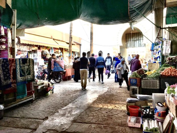 Agadir bazaar entrance, Souk El Had