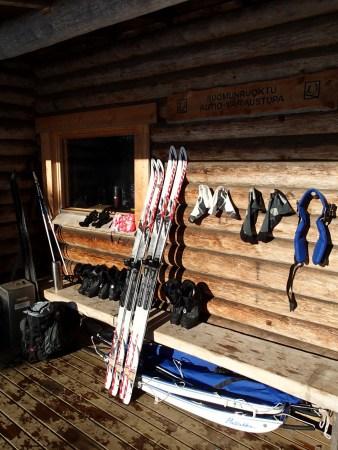 Ski tour in Lapland, our wilderness hut