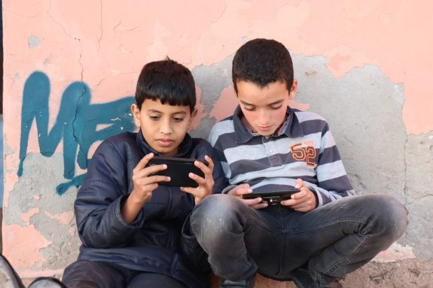 Moroccan boys playing games