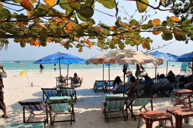 On the main beach of Ko Samet, Thailand
