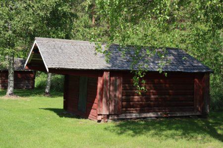 A wooden church stable in Närpes, Ostrobothnia