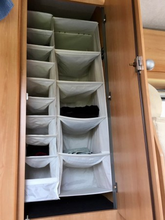 Motorhome travel: plenty of space for clothes