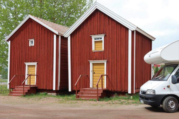 Ostrobothnia road trip by motorhome: grain sheds