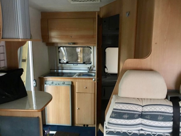 Our motorhome: the kitchen corner
