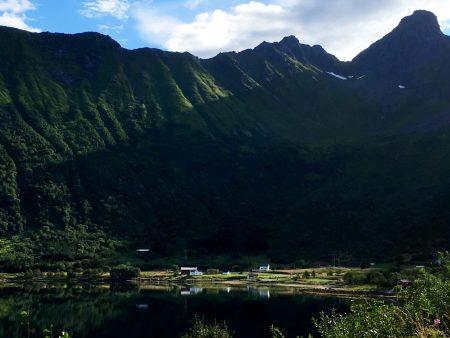 Drive through the Lofoten Islands: a Lofoten village waking up