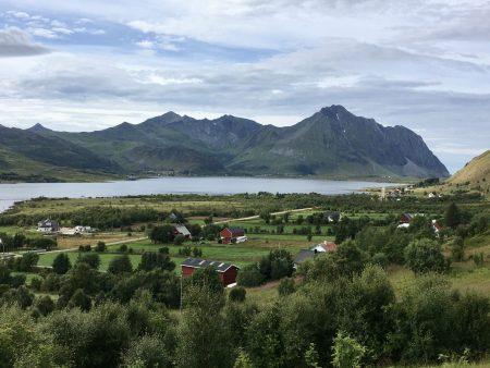 Vestvågøy landscape on the Lofoten Islands