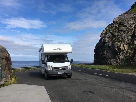 Driving through the Vesterålen Islands of Norway