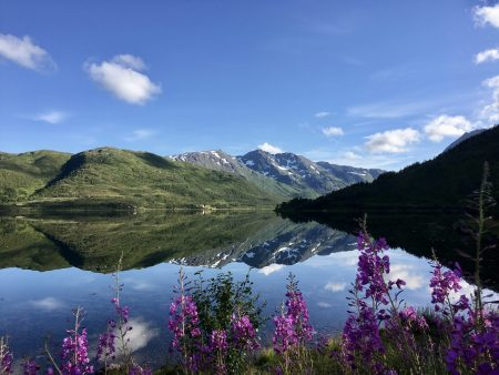 Fjord view, journey through the Vesterålen Islands of Norway