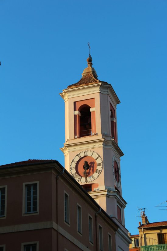Church tower on Place du Palaice, Nice