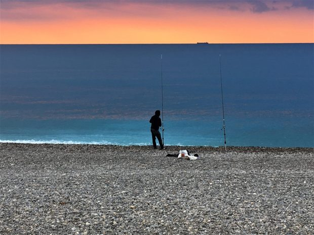Early morning on Nice Beach