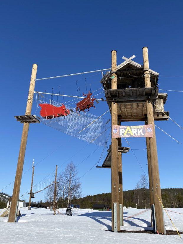 Santa Claus reindeer, Levi ski resort, Lapland