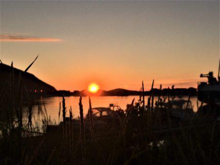 Sommaroy midnight sun, Norway