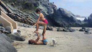 acro yoga in Laguna Beach, California