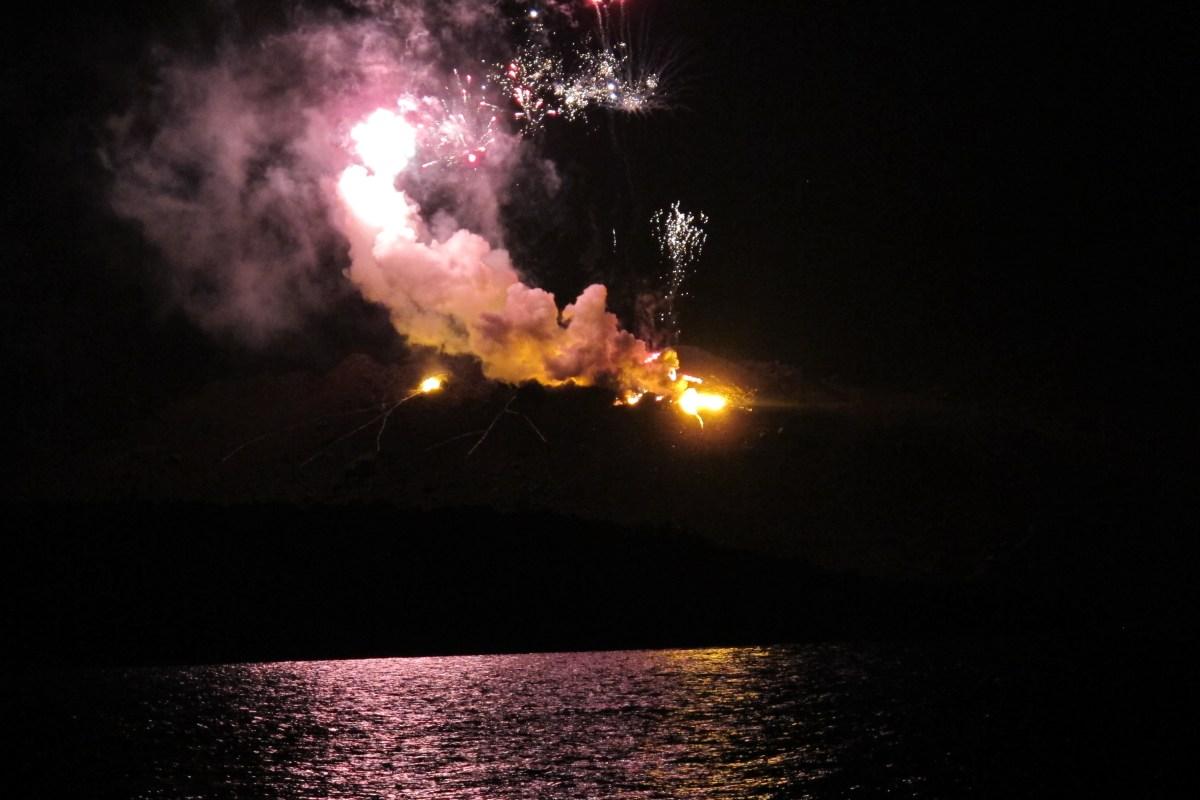 Fireworks in Santorini