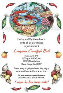 Crawfish Hot Tub Invitations Routh Studios LLC