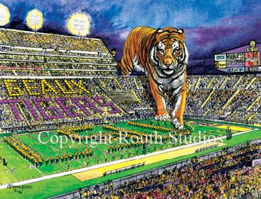 LSU Tiger Stadium Note Cards Routh Studios LLC