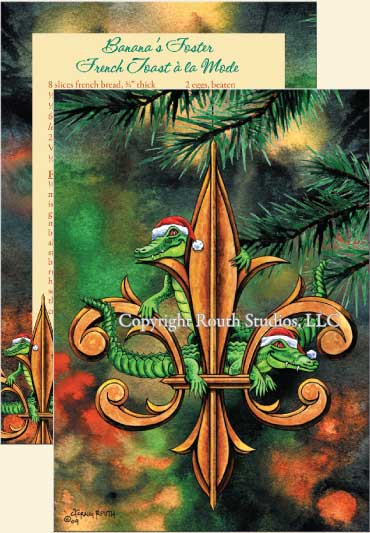 Fleur De Lis Amp Christmas Gators Christmas Cards Routh