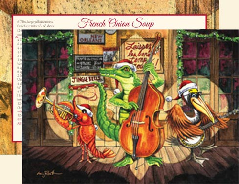 Dixieland Jazz Fleur De Lis Christmas Cards C14DJF