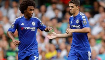 Oscar with Willian playing at chelsea