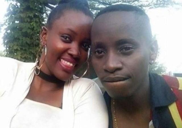 Faith Ntaborwa with MC Kats