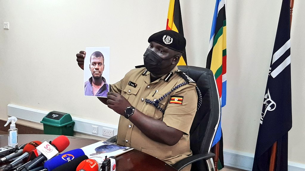 Police spokesperson, Fred Enanga showing off second Gen Katumba shooter
