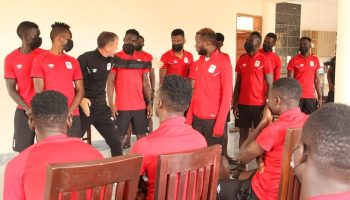 Micho giving instructions to Cranes players