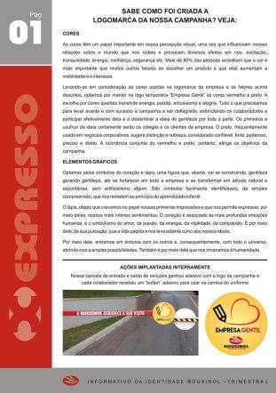 """Informativo """"Expresso Rouxinol"""" - Nº 14, pág 01"""