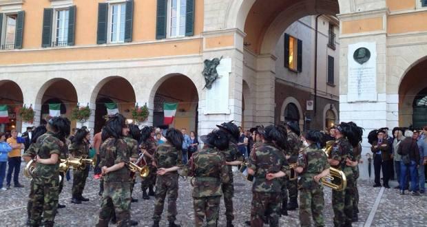 Bersaglieri a Rovato (foto pagina Facebook Comune)