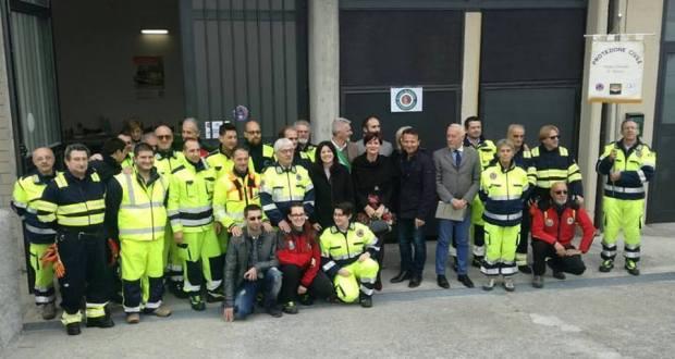 L'inaugurazione della nuova sede della Protezione civile di Rovato