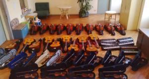 Strumenti musicali della scuola Strickler di Rovato