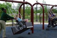 Parco giochi per disabili, foto generica