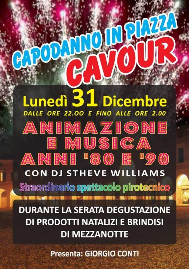 La locandina del capodanno in piazza Cavour a Rovato