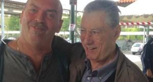 Pieritalo Bosio, nuovo assessore di Rovato, in una foto con Umberto Bossi