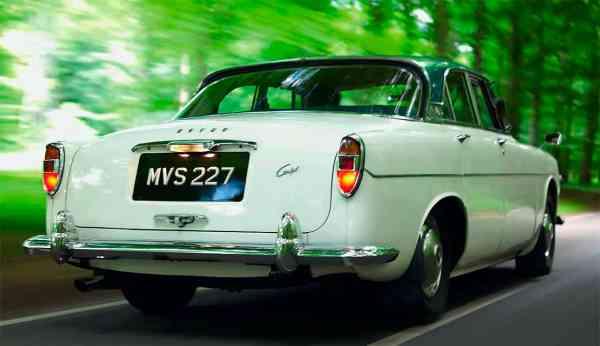 Rover 3.5 Litre Coupe White ROS Quarter