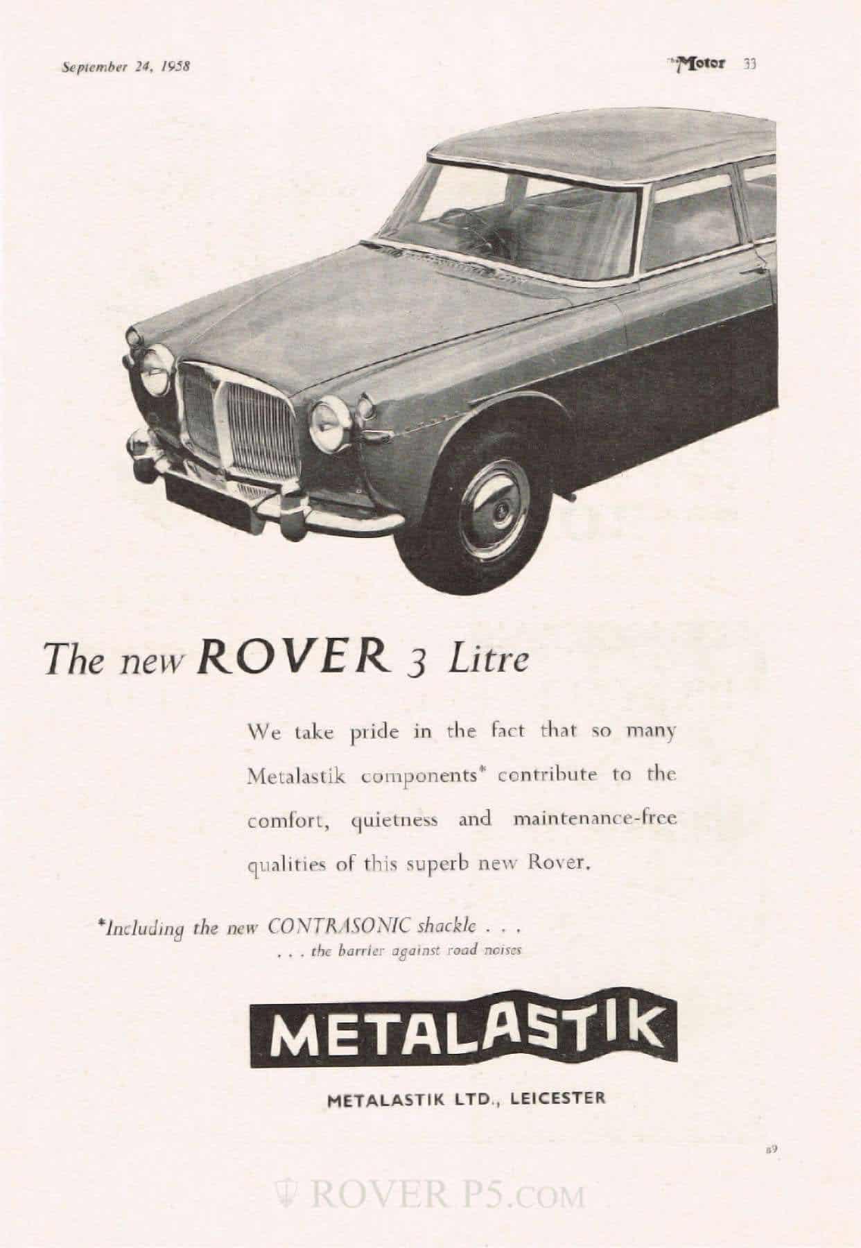 Advert - Metalastik Contrasonic Shackle
