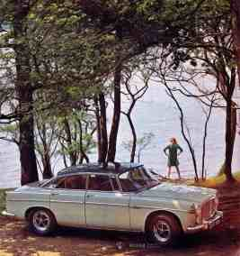 Brochure---1968---Rover-3½-Litre---Image---Grey-Coupe-Lakeside