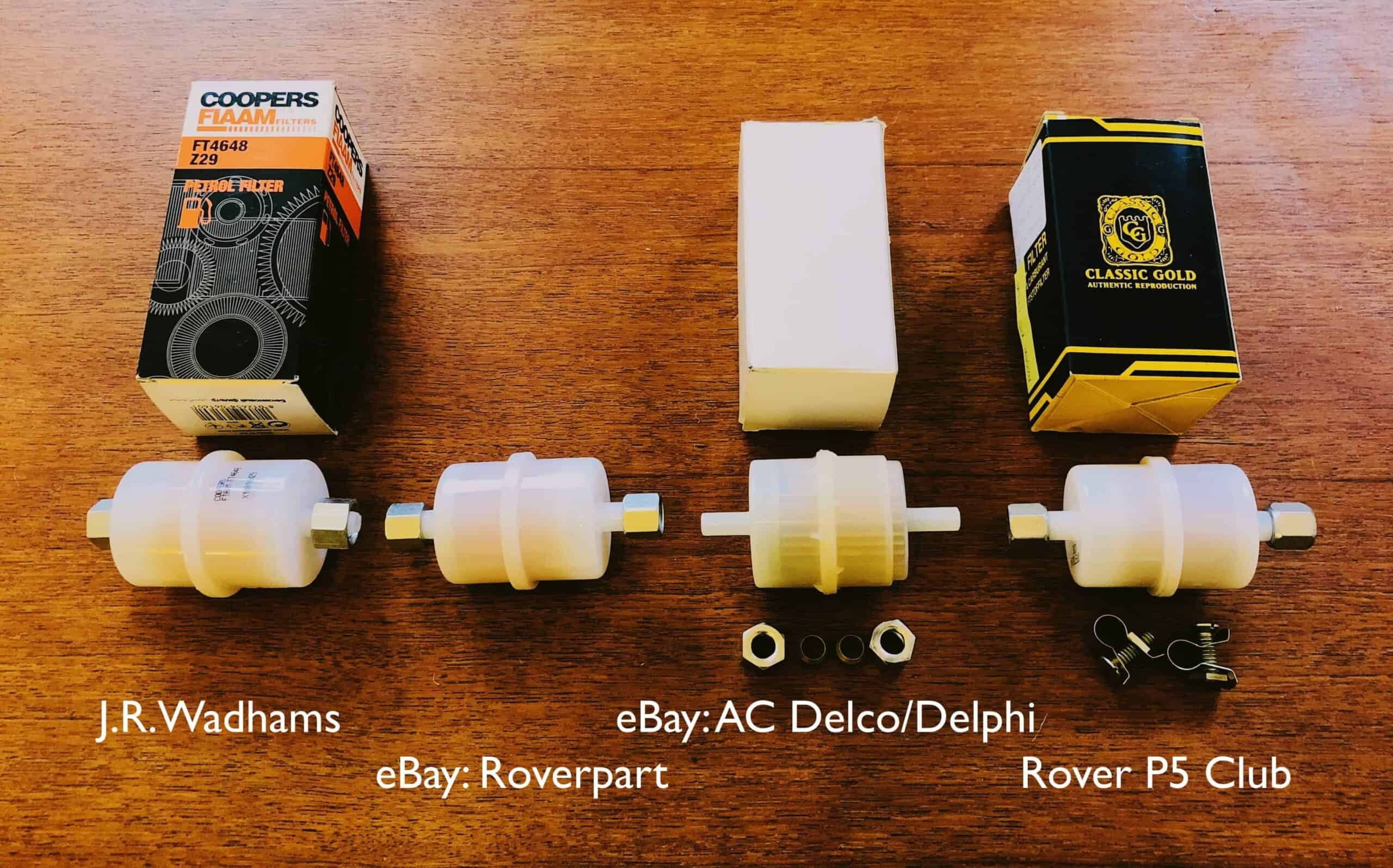Rover P5B Fuel Filter Safety Comparison