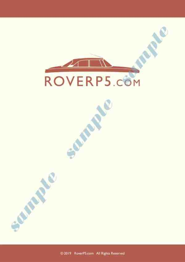 Rover P5b Saloon And Coupe Wiring Diagram Download Only Roverp5 Com Classic Rover P5 3 Litre And P5b 3 5 Litre