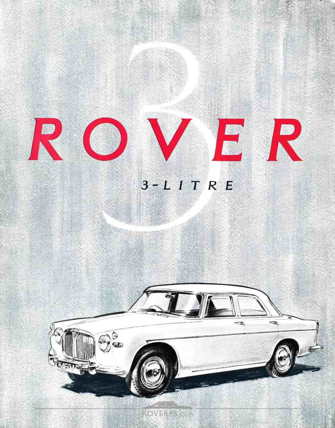 Brochure - 1959 - Rover 3 Litre - Front Cover
