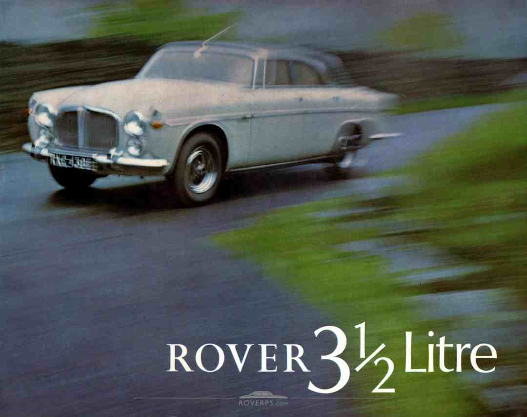 Brochure - 1968 - Rover 3½ Litre - Front Cover