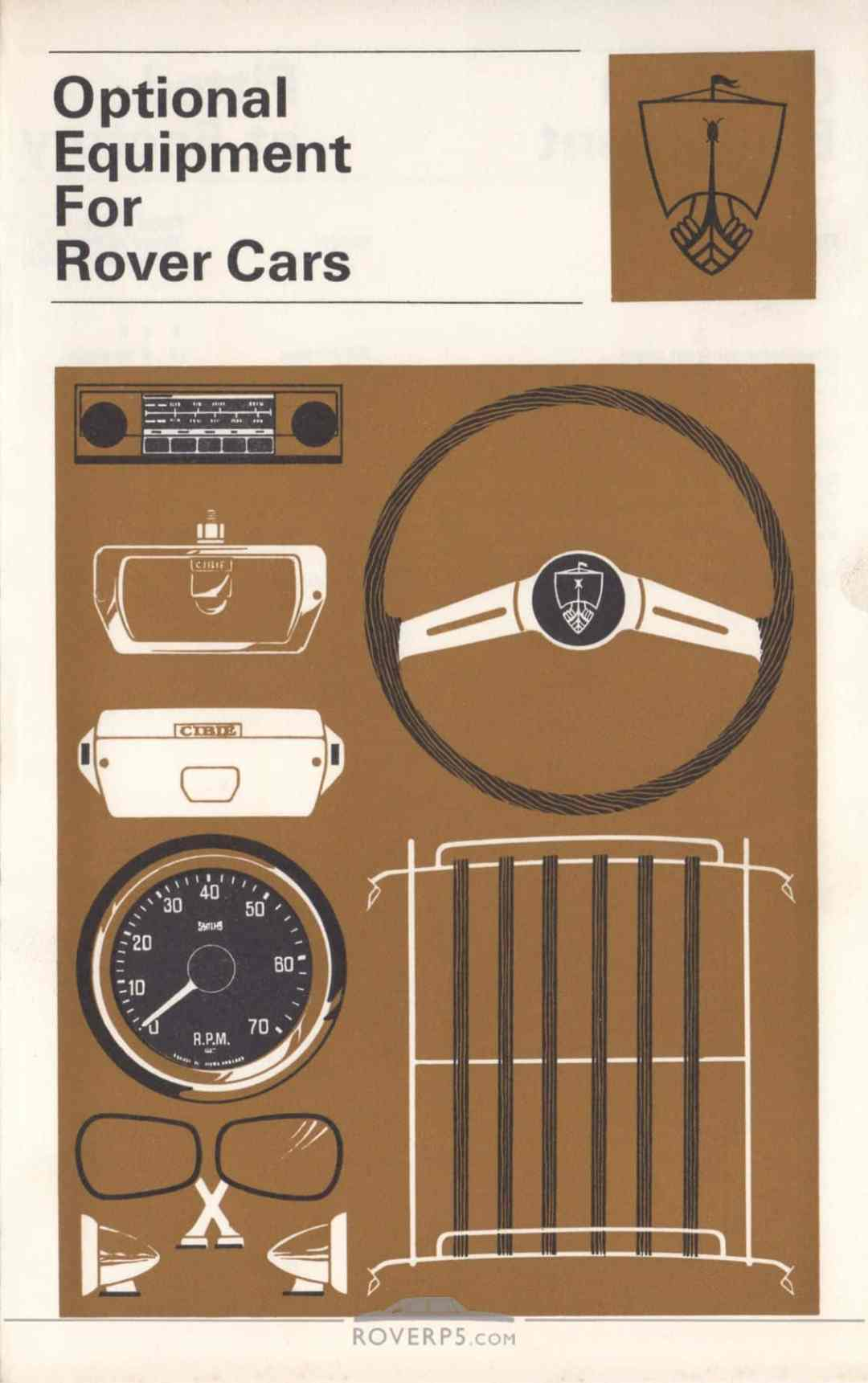 Literature Pack - 1968 - Optional Equipment For Rover Cars - Front Cover