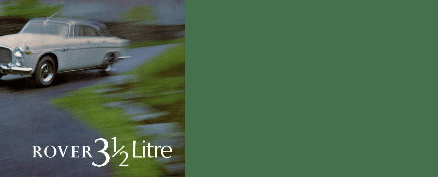Rover 3½ Litre Brochure 1968